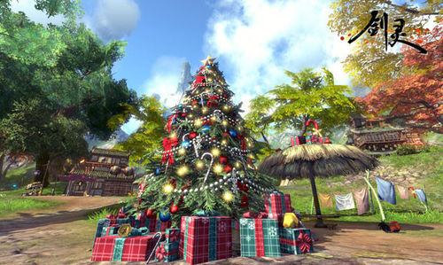 剑灵圣诞节版本游戏场景抢先看 活动前瞻