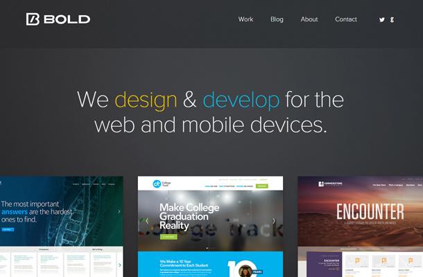 40个国外大字体排版的网站设计欣赏